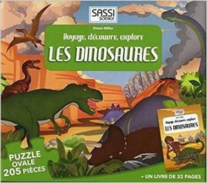Voyage, découvre, explore Les dinosaures : Un livre de 32 pages et 205 pièces de puzzle