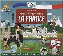 Voyage, découvre, explore La France : Livre de 32 pages + puzzle circulaire de 210 pièces