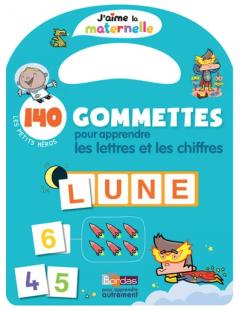 140 gommettes pour apprendre les lettres et les chiffres - Les petits héros