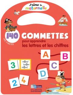 140 gommettes pour apprendre les lettres et les chiffres - Les pirates