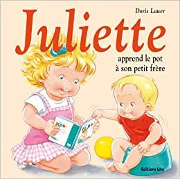 Juliette apprend le pot à son petit frère