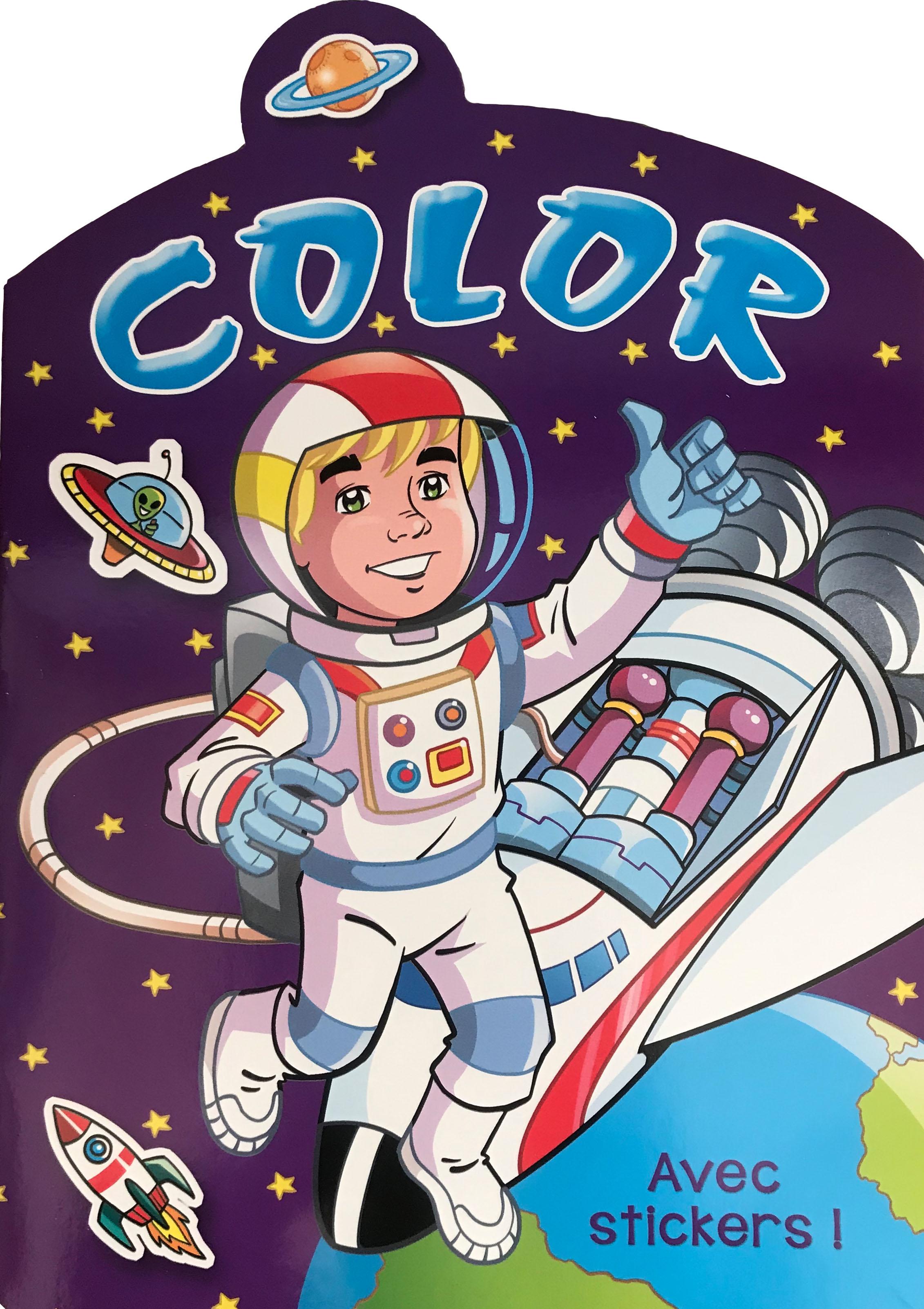 Color avec stickers-Mauve