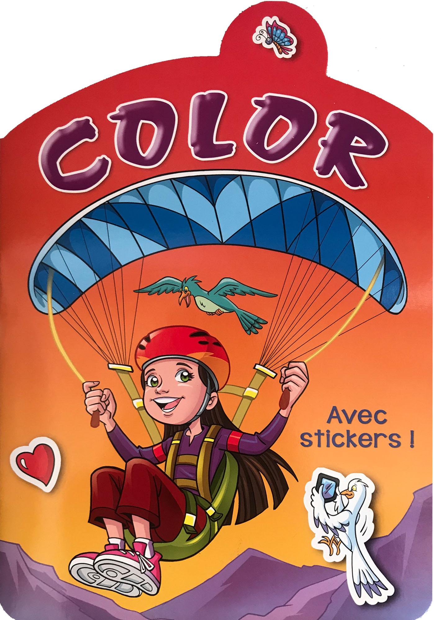Color avec stickers-rouge