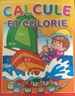 CALCULE ET COLORIE - ROUGE