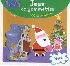 Jeux de gommettes Noël Peppa Pig