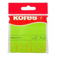 100 Notes autocollantes vert 75x75 mm