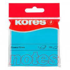 100 Notes autocollantes bleu 75x75mm