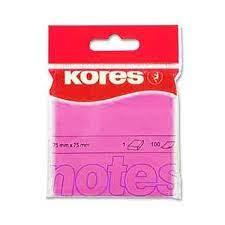 100 Notes autocollantes rose 75x75 mm